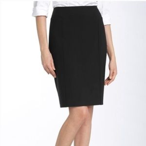 Halogen black fitted seamed pencil skirt 4